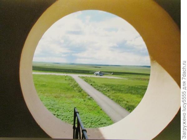 Возле музея вертолётная площадка для руководства области. Путин тоже сюда прилеталю
