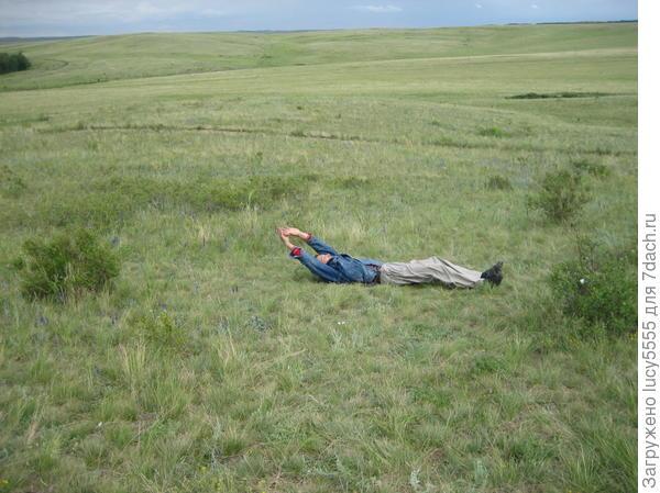 Какое удовольствие скатиться с горы по траве!