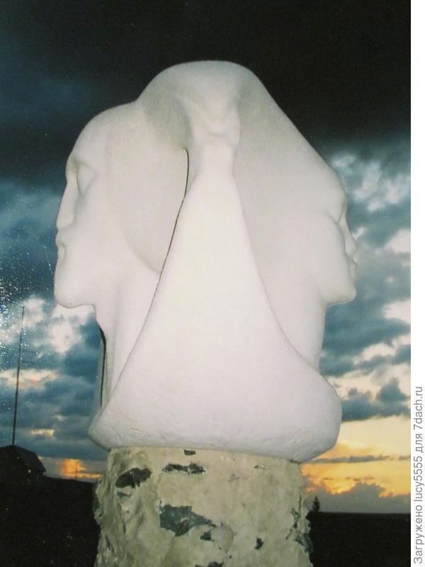 Скульптуры Аркаима. Четыре лица