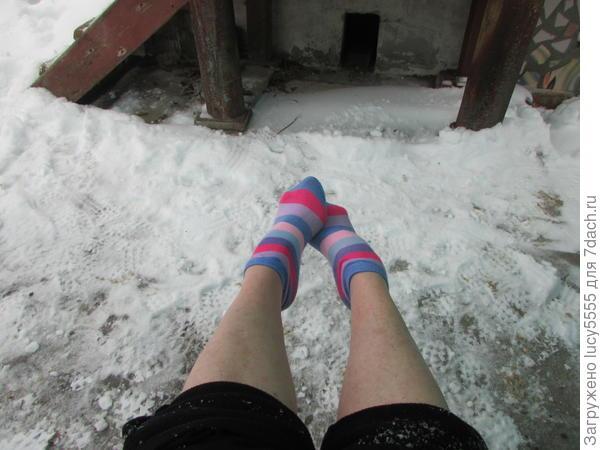 надела носочки