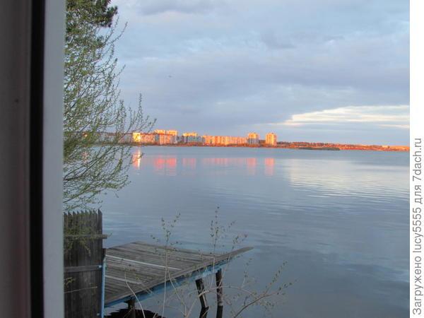 а это уже закатное Солнце освещает Озёрск