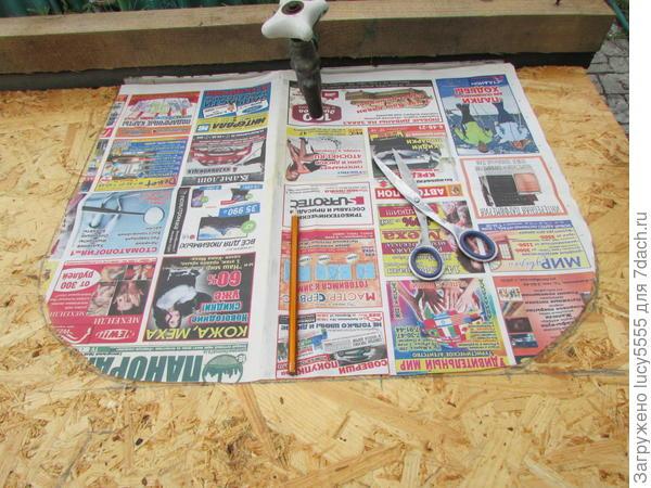 выкройка размера мойки из газеты