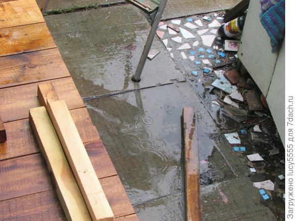 лаковое покрытие дождь выдержало!