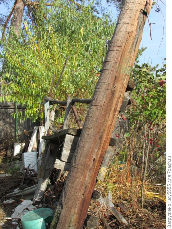забор на озеро вот заваливается, столбы ещё папа ставил, лет 40 простояли. Что-то надо думать...
