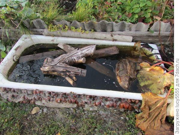 ванна тоже с водой зимовать будет, поэтому тоже дров туда