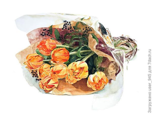 Тюльпановый букет в падарок)))