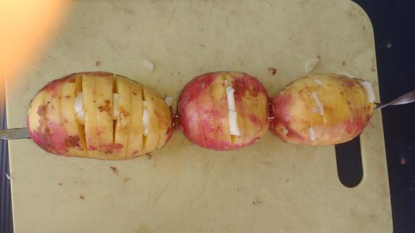 Картошка-гармошка в беконе на мангале. Пошаговый рецепт с фото