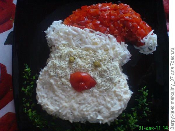 "салат ,,Санта Клаус"""