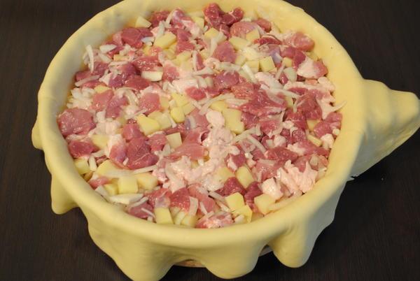 Татарский пирог Зур бэлиш. Пошаговый рецепт с фото