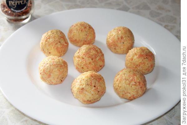 шарики размером с абрикос