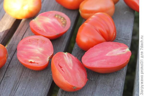 разрез томатов