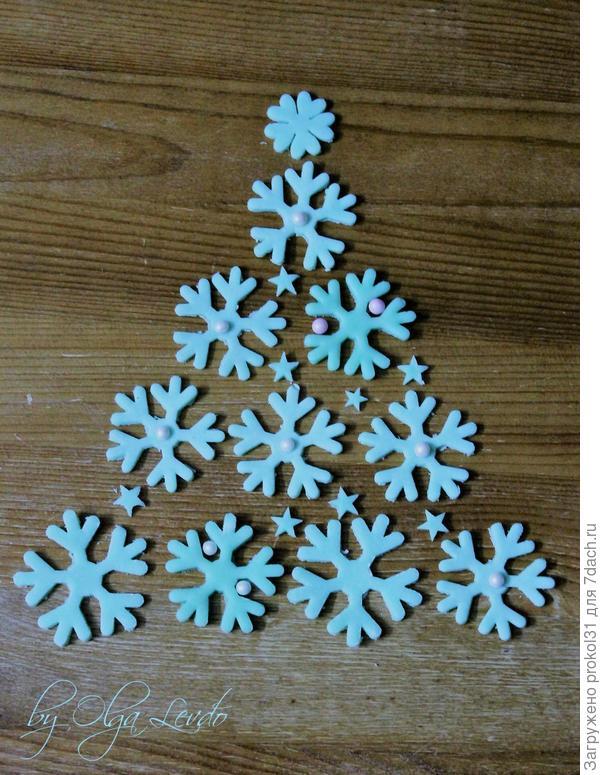 Снежинки сахарные