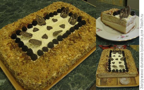Торт в разрезе.