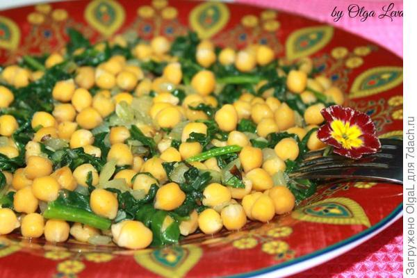 шпинат с нутом по - арабски