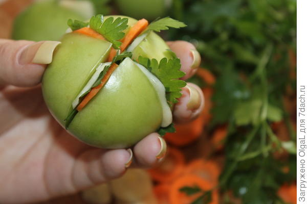 помидор разрезать