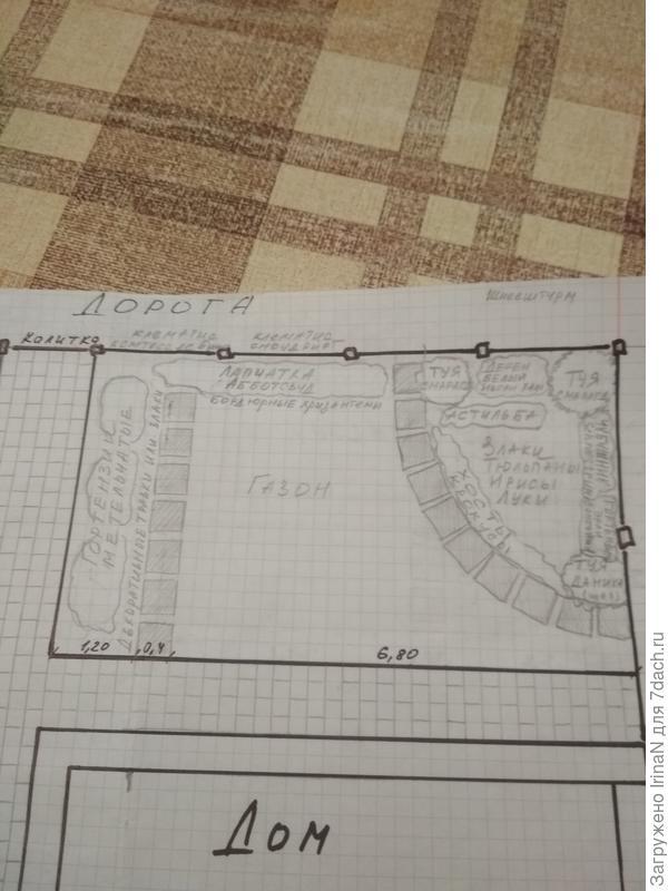 План палисадника, последний на сегодняшний день вариант