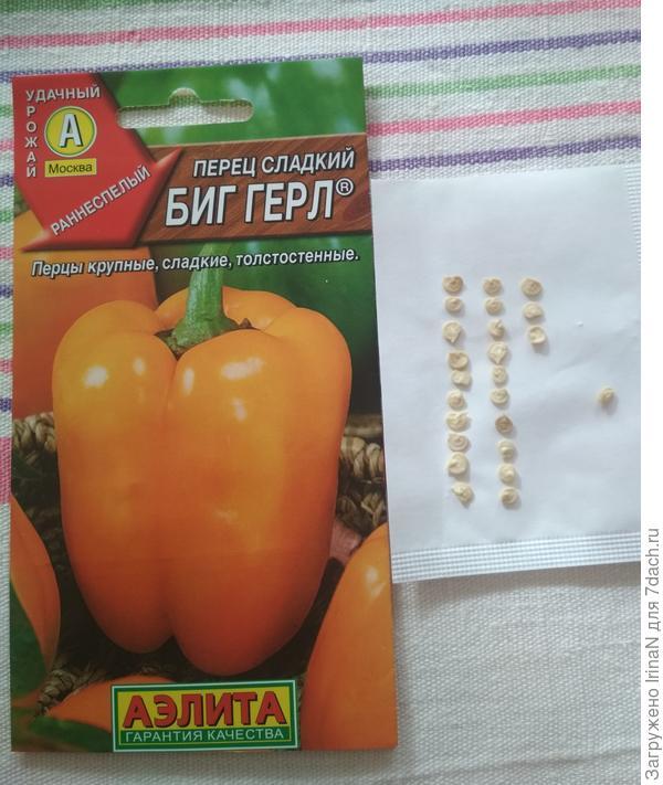 Перец сладкий Биг герл. Семена.
