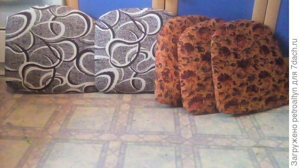 сиденья обшиты новой тканью