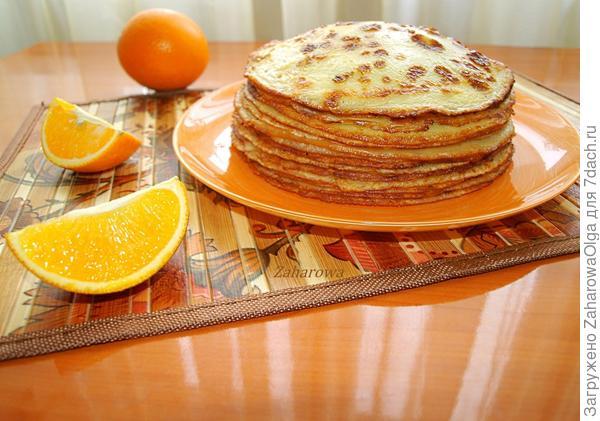 Апельсиновые блинчики