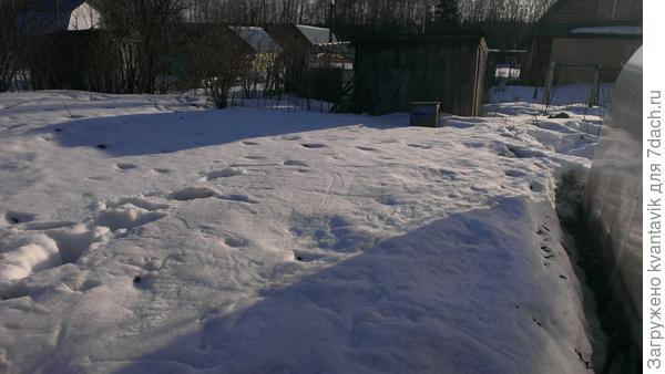 а вот эта нет, мало видно, фотографировал сын, чтобы показать что почистил от снега борт