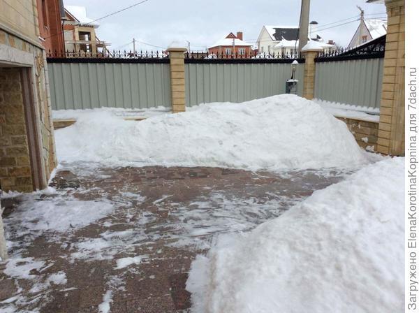 После уборки снега