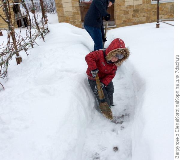 Уборка снега началась