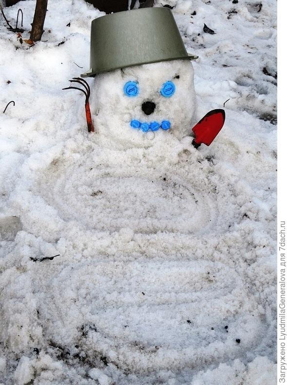 Весенний снеговичок (дачный тайный советник).