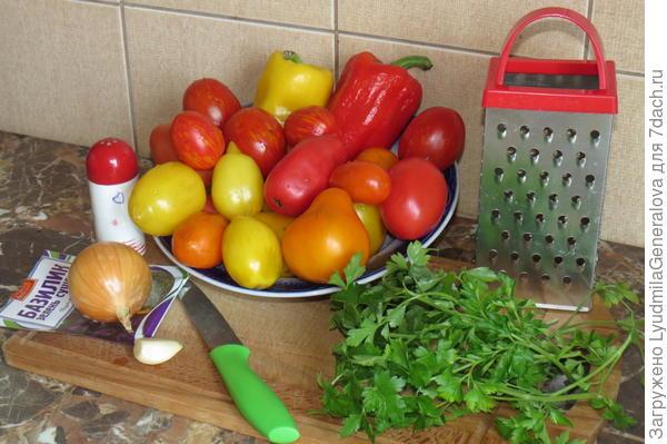 Овощи для помидорной тюри
