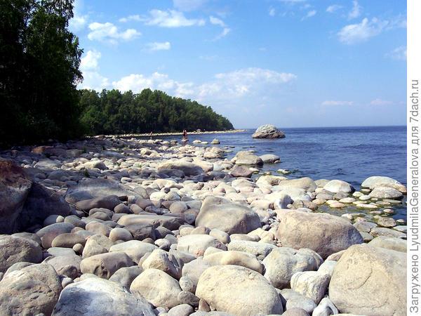 Каменный берег Ладоги.