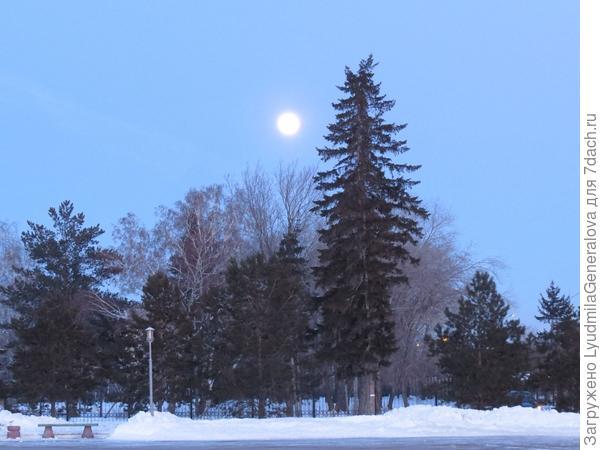 А это вечер 1 марта 2018 г. Луна огромная, яркая, притягательная...