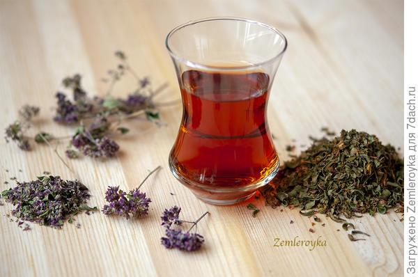 Чай с душицей и зверобоем