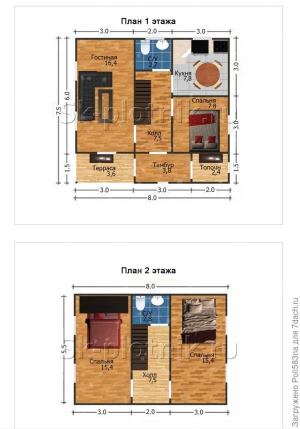 Схема предполагаемого дома