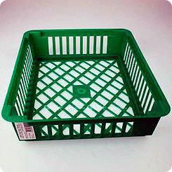 Корзинки для посадки луковичных квадратные, белые, 5 шт.
