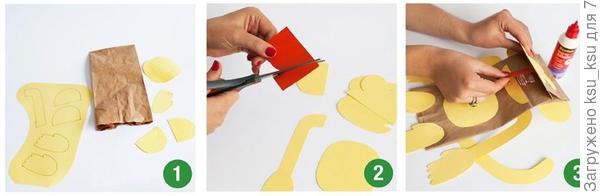 Инструкция по изготовлению подарочных пакетов с обезьянами. Фото с сайта thecottagemarket.com
