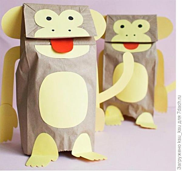 Крафтовые пакеты с обезьянами. Фото с сайта thecottagemarket.com