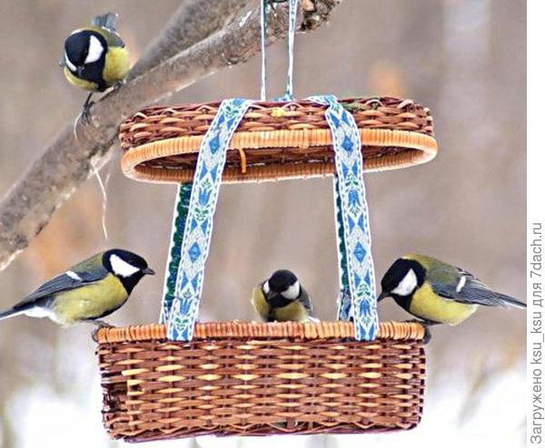 Кормушка-корзинка. Фото с сайта http://ladysovety.ru