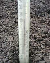 Показания термометра на момент высадки