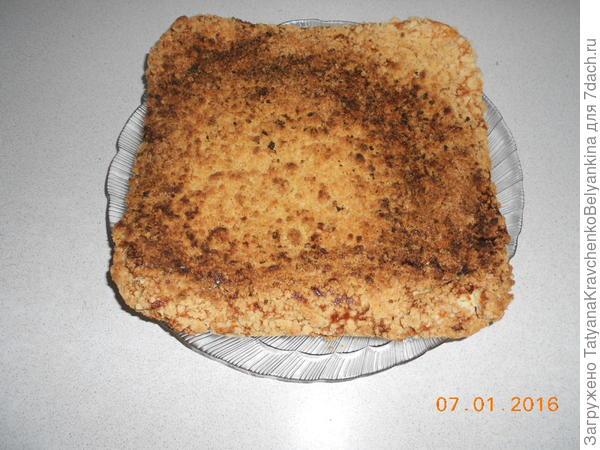 7 шаг вынимаем пирог из духовки
