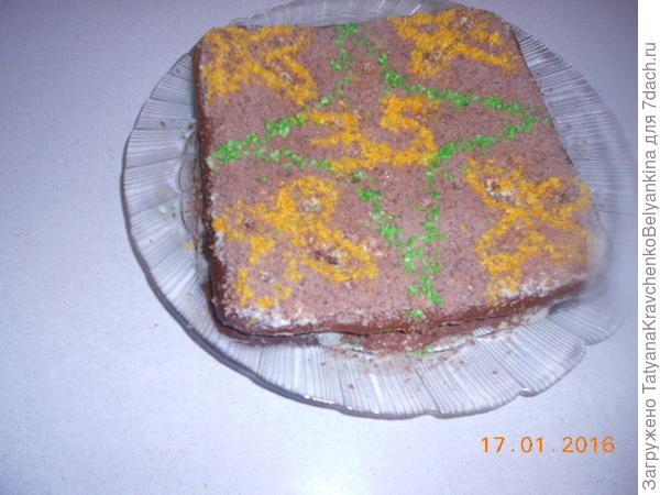 Украшаем торт и вот что получилось