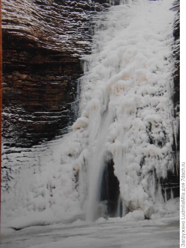 Водопад зимой.