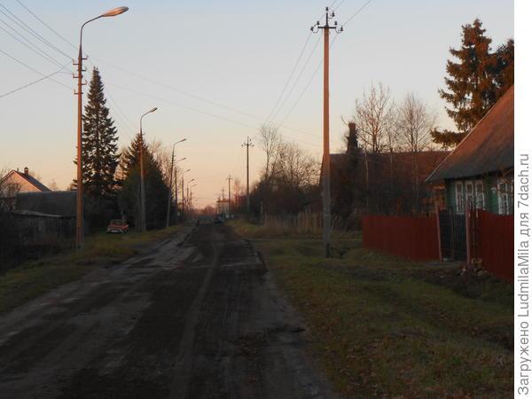 Типично деревенская улица.