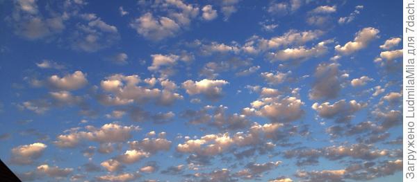 Закатные облака.