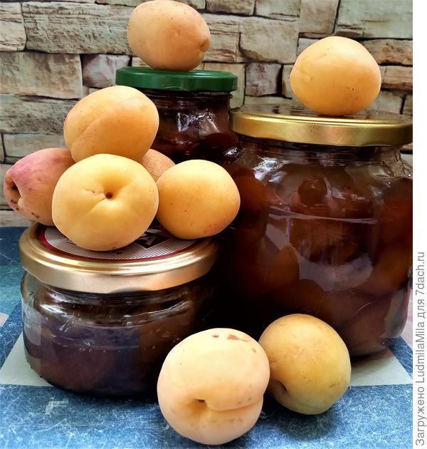 Варенье из абрикос с орехами