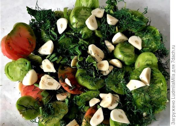 Салат(закуска) из зеленых помидор