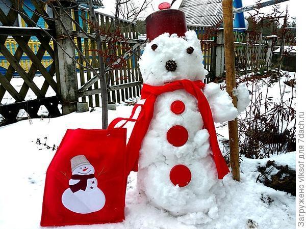 Снеговик - Пётр Николаевич с фирменной сумкой