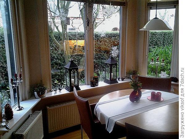 окна в столовой (кухня)