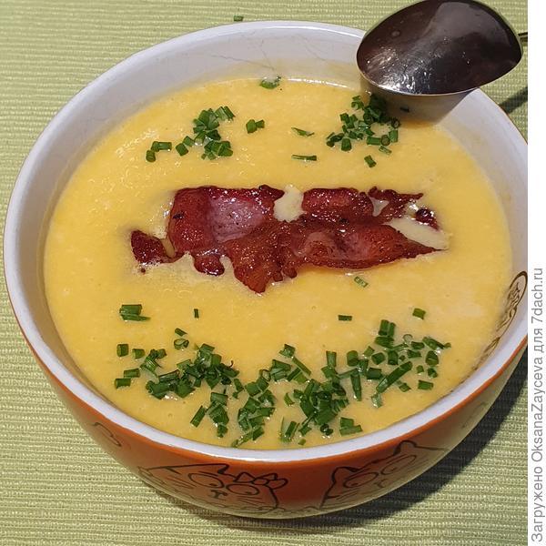 Суп-пюре из тыквы с беконом. Пошаговый рецепт с фото