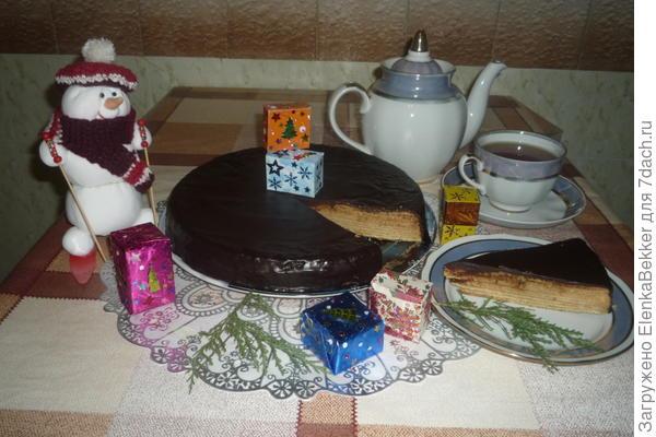рождественский торт Баумкухенторте