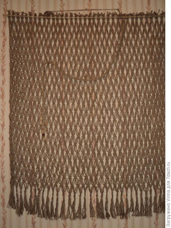готовая шторка с украшением из витого шнура