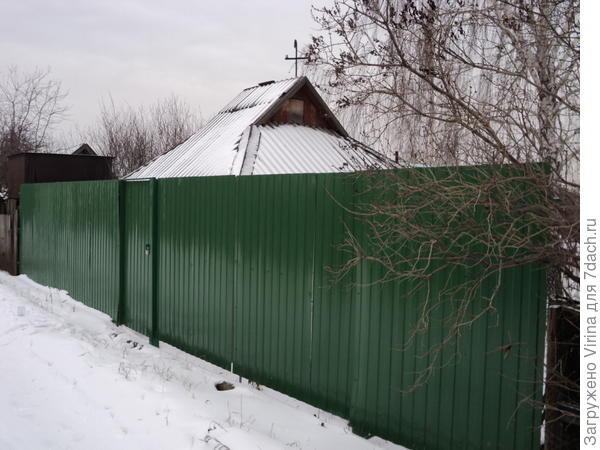 Новый забор с улицы